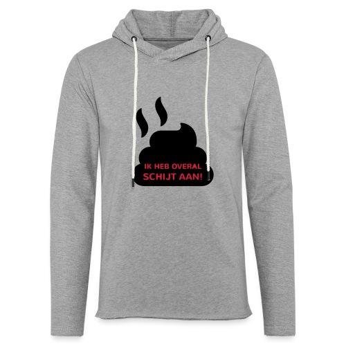Grappige Rompertjes: Ik heb overal schijt aan - Lichte hoodie unisex