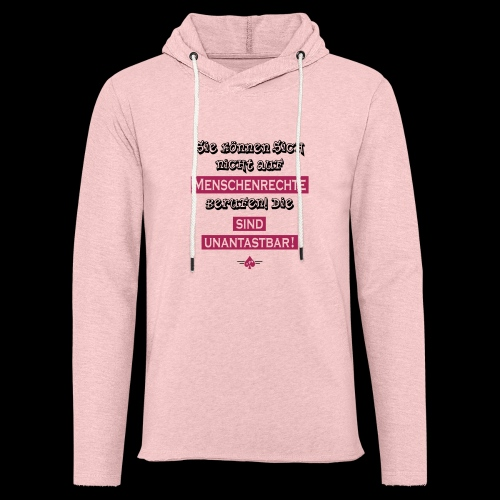 Menschenrechte - Leichtes Kapuzensweatshirt Unisex