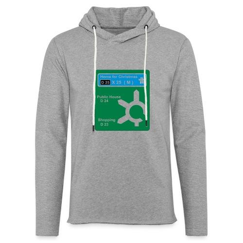 HOME_FOR_CHRISTMAS_SIGN - Light Unisex Sweatshirt Hoodie