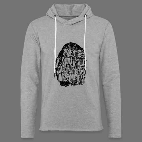 Fingerprint DNA (black) - Light Unisex Sweatshirt Hoodie