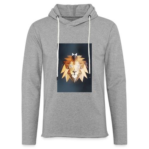 Polygon Lion - Leichtes Kapuzensweatshirt Unisex