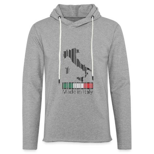 Made in Italy - Felpa con cappuccio leggera unisex