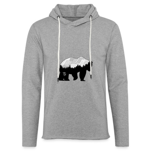 Geometric Mountain Bear - Felpa con cappuccio leggera unisex