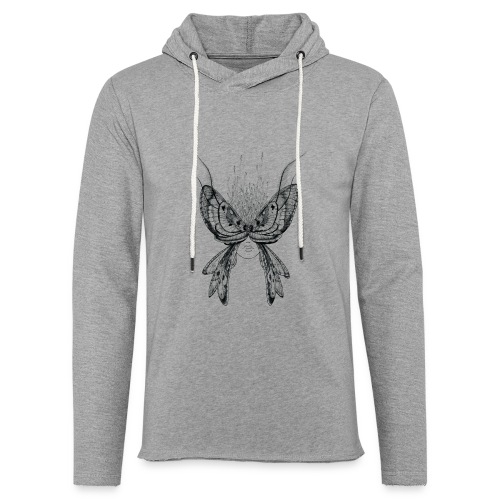 Nachtfalter - Leichtes Kapuzensweatshirt Unisex