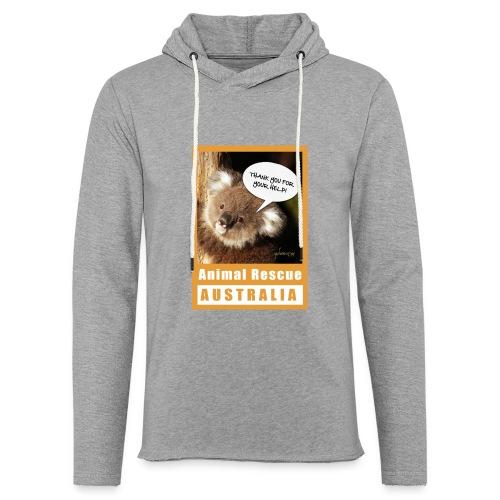 Thank You Koala - Spendenaktion Australien - Leichtes Kapuzensweatshirt Unisex
