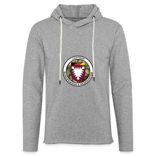 Logo des Laufteams - Leichtes Kapuzensweatshirt Unisex