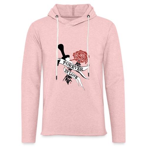 Forever in Love - Leichtes Kapuzensweatshirt Unisex