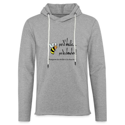 Pas d'abeille, pas de chouchen - Sweat-shirt à capuche léger unisexe
