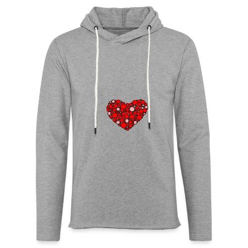 Hjertebarn - Let sweatshirt med hætte, unisex