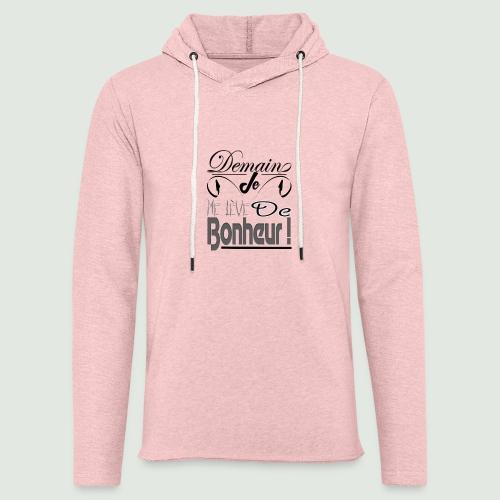 bonheur demain - Sweat-shirt à capuche léger unisexe