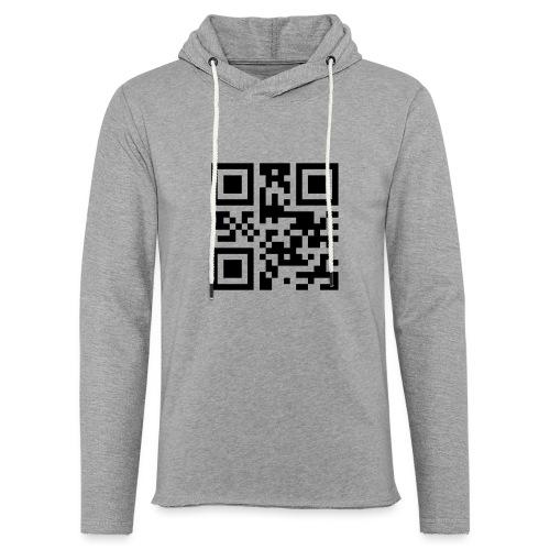 Sono Single QR Code - Felpa con cappuccio leggera unisex
