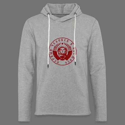 Czerwony 1c kosmonauta (oldstyle) - Lekka bluza z kapturem