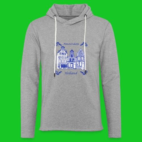 Holland Grachtenpanden Delfts Blauw - Lichte hoodie unisex