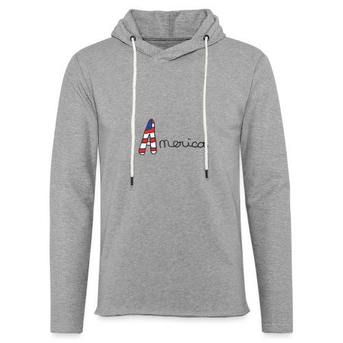America - Sweat-shirt à capuche léger unisexe