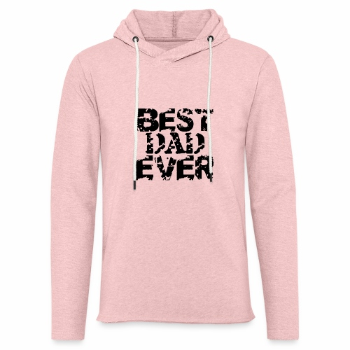 Black Best Dad Ever - Leichtes Kapuzensweatshirt Unisex