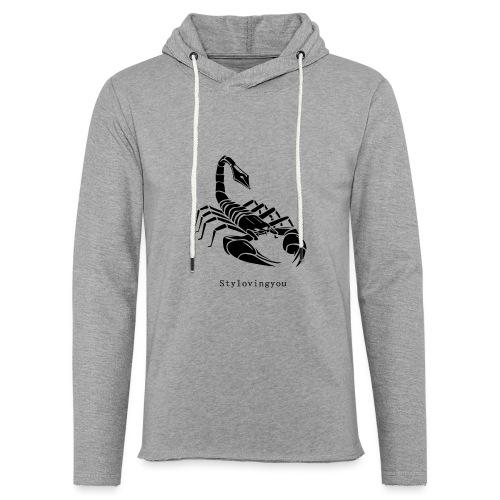 Scorpion noir - Sweat-shirt à capuche léger unisexe