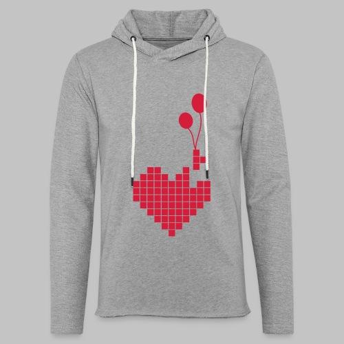 heart and balloons - Light Unisex Sweatshirt Hoodie