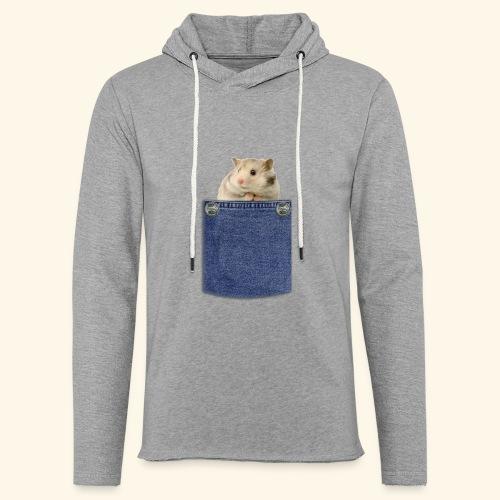 hamster in the poket - Felpa con cappuccio leggera unisex