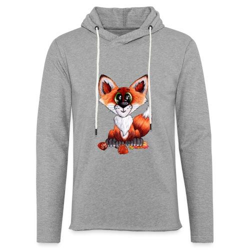 llwynogyn - a little red fox - Kevyt unisex-huppari