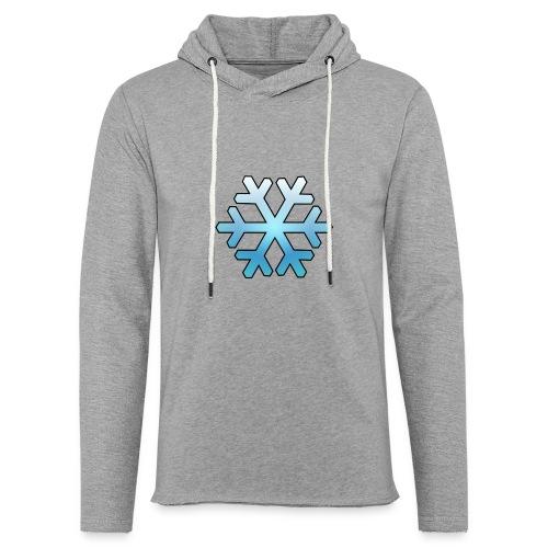 Schneeflocke - Leichtes Kapuzensweatshirt Unisex