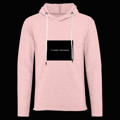 Vi Sætter Standarden - Let sweatshirt med hætte, unisex