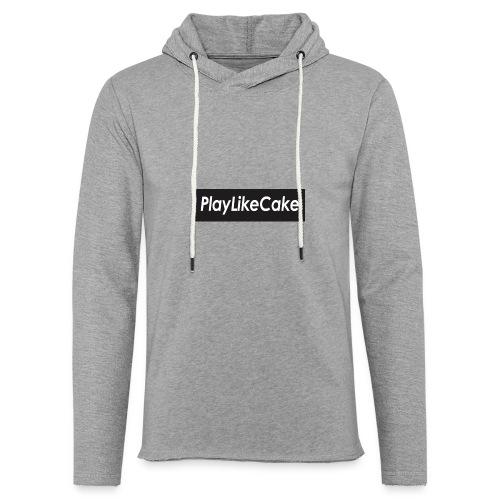 PlayLikeCake black box logo - Lett unisex hette-sweatshirt
