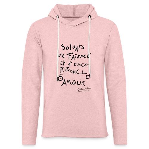 Calligramme - Soldat de faillance - Sweat-shirt à capuche léger unisexe