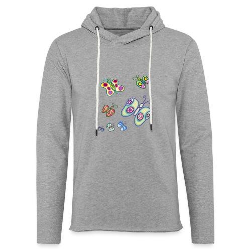 Allegria di farfalle - Felpa con cappuccio leggera unisex