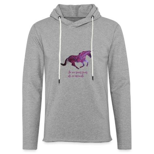 La licorne cosmique - Sweat-shirt à capuche léger unisexe