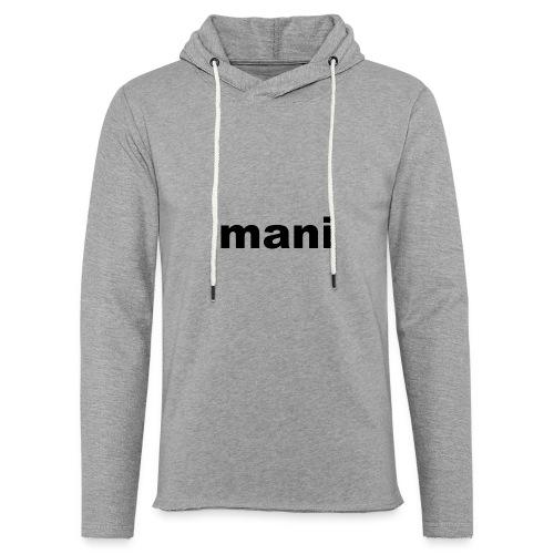 mani vrouwen t-shirt met lande mouwen - Lichte hoodie unisex