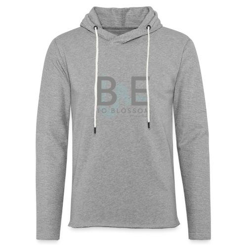 Be to blossom with swoosh (gray) -Power to Blossom - Light Unisex Sweatshirt Hoodie