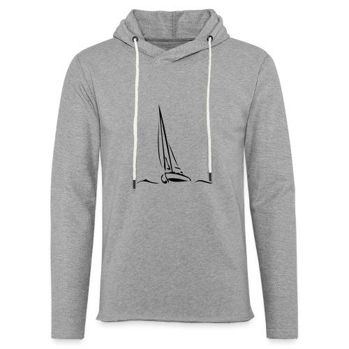 Segelboot - Leichtes Kapuzensweatshirt Unisex