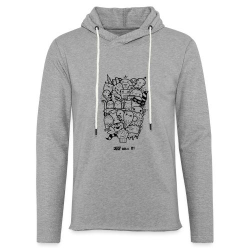 Just Doodle it Black - Leichtes Kapuzensweatshirt Unisex