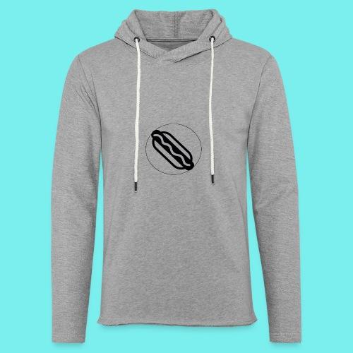 Hotdog logo - Let sweatshirt med hætte, unisex