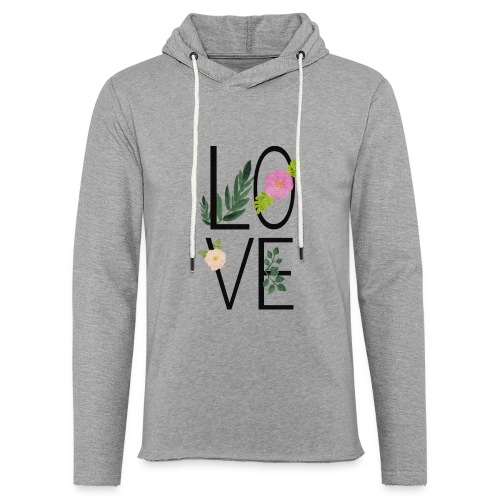 Love Sign with flowers - Light Unisex Sweatshirt Hoodie