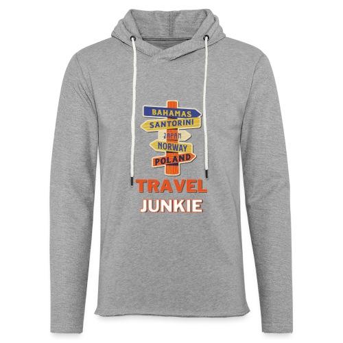 traveljunkie - i like to travel - Leichtes Kapuzensweatshirt Unisex