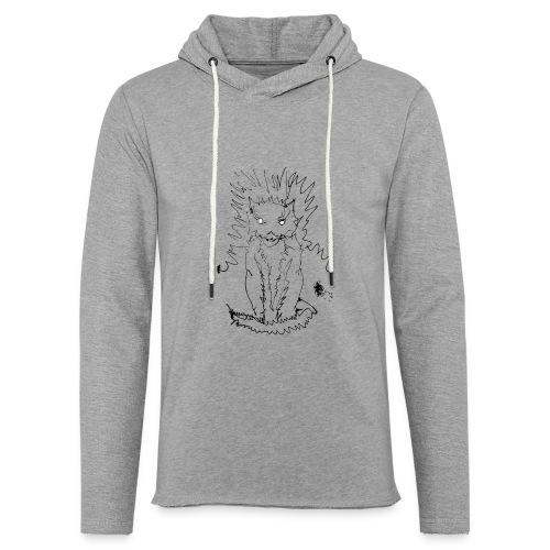 der graue Katzer - Leichtes Kapuzensweatshirt Unisex