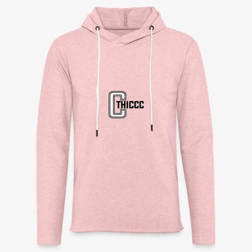 thiccc logo WHITE and BLACK - Light Unisex Sweatshirt Hoodie