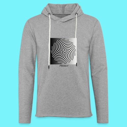 Fibonacci spiral pattern in black and white - Light Unisex Sweatshirt Hoodie