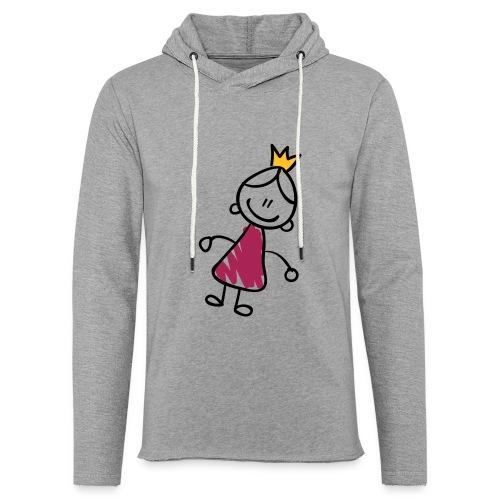 Princess Line Drawing Pixellamb - Leichtes Kapuzensweatshirt Unisex