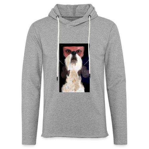 She and jack russell terrier - Lekka bluza z kapturem
