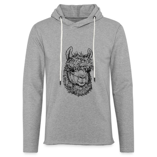 Alpaka - Leichtes Kapuzensweatshirt Unisex