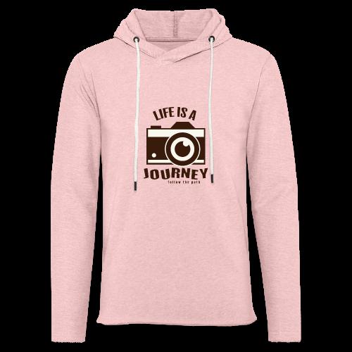 Life is a Journey - Leichtes Kapuzensweatshirt Unisex