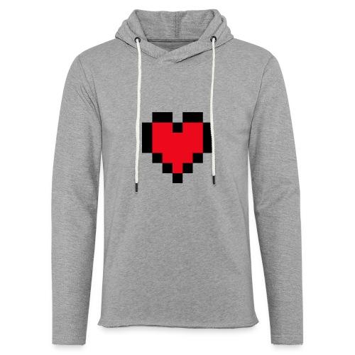 Pixel Heart - Lichte hoodie unisex