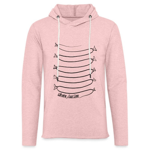 Wiener Illusion (schwarz auf weiß) - Leichtes Kapuzensweatshirt Unisex