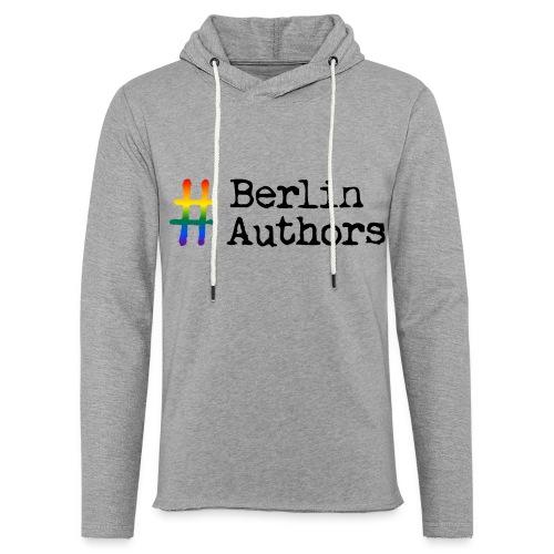 BerlinAuthors Logo Rainbow - Leichtes Kapuzensweatshirt Unisex