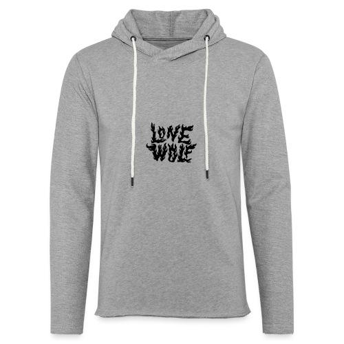 Lone Wolf - Sweat-shirt à capuche léger unisexe