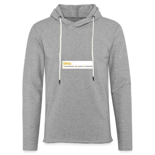 Text-Logo der ÖRSG - Rett Syndrom Österreich - Leichtes Kapuzensweatshirt Unisex