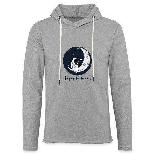 Visez la lune ! - Sweat-shirt à capuche léger unisexe
