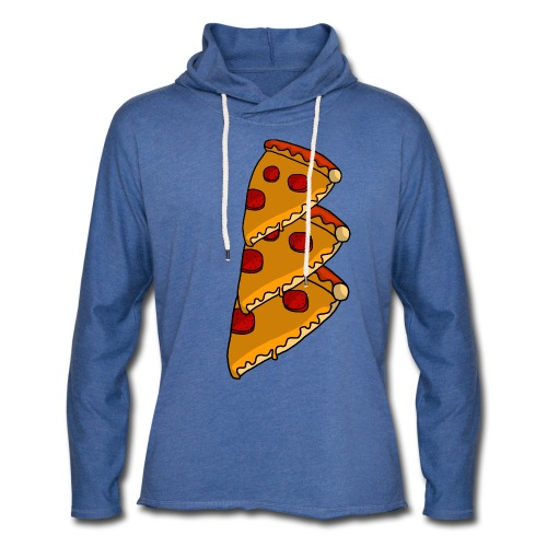 pizza - Let sweatshirt med hætte, unisex